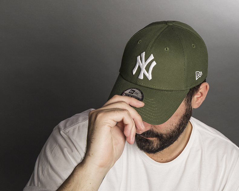new era khaki 9forty ny baseball caps