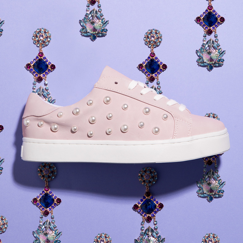 schuh Sprinkle trainer in pink