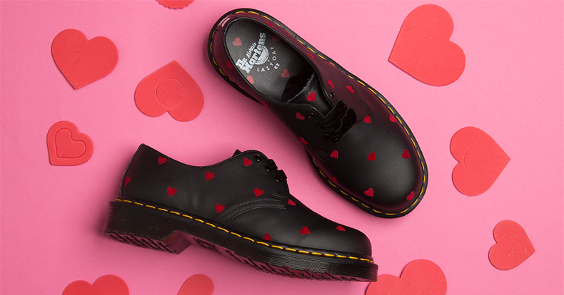 Dr. Martens and Lazy Oaf 1461 with hearts