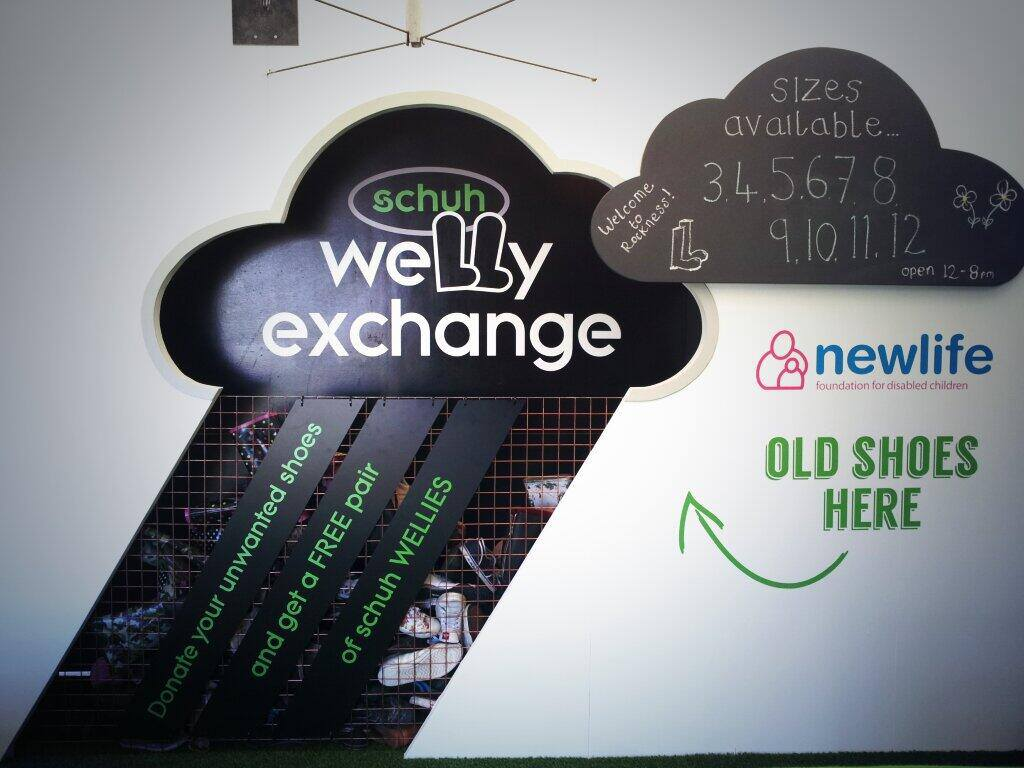 schuh welly exchange old shoes
